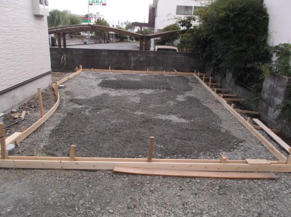 土間コンクリート 型枠2